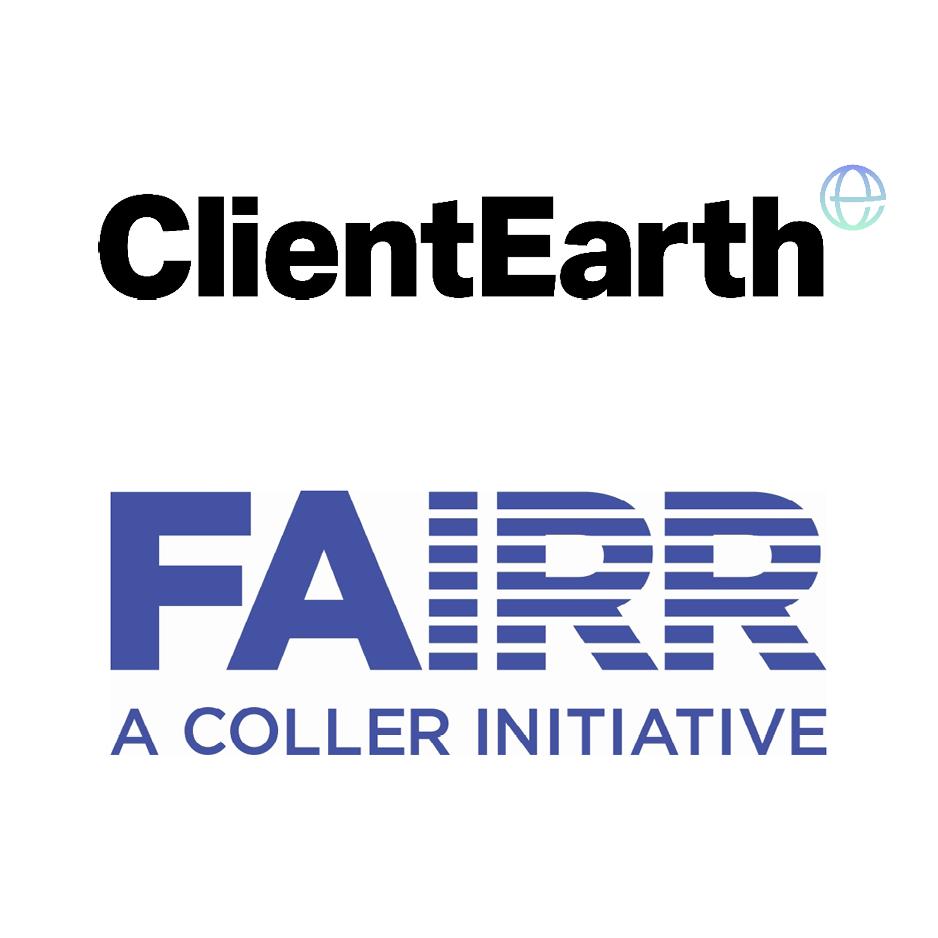 Logo ClientEarth en FAIRR initiative